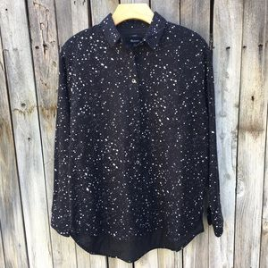NWT Madewell Oversized Ex-Boyfriend Shirt Star S